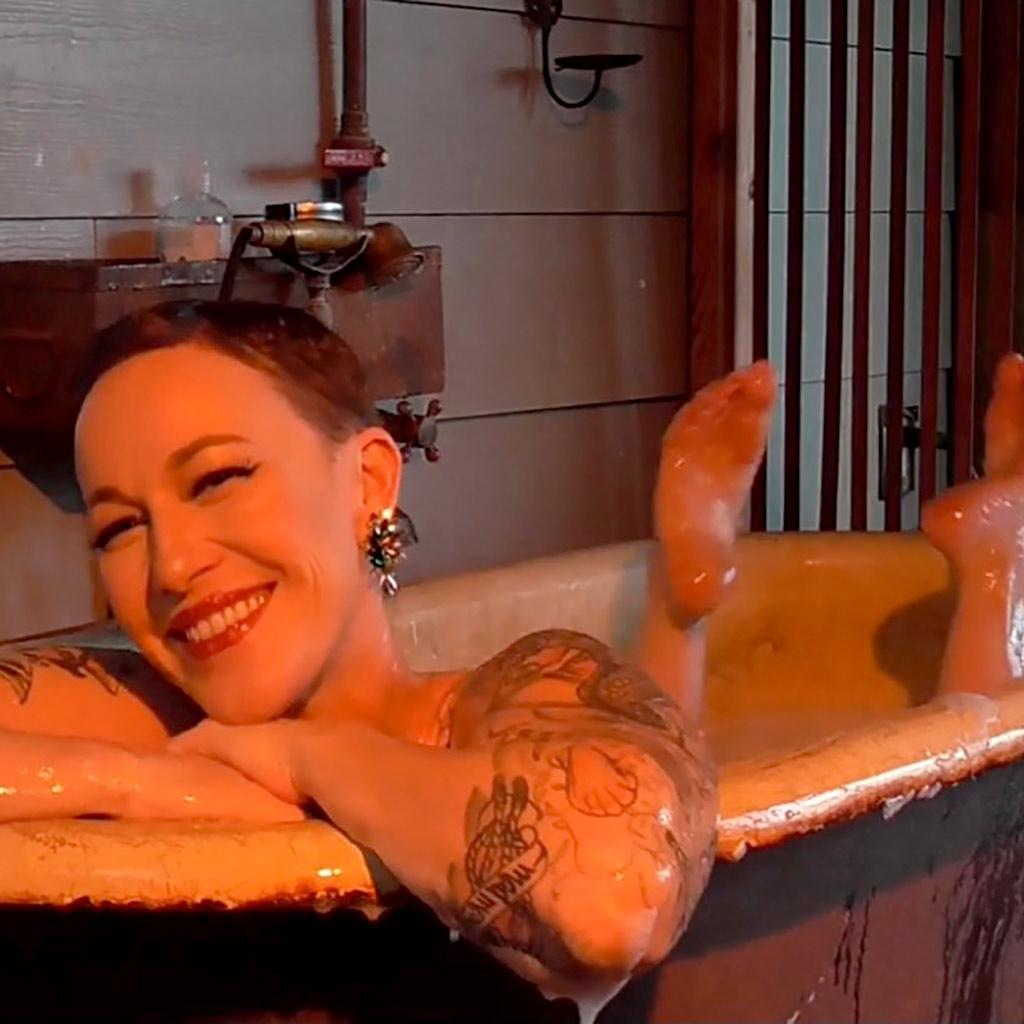 Champagne Bubbles, Burlesque & Baths