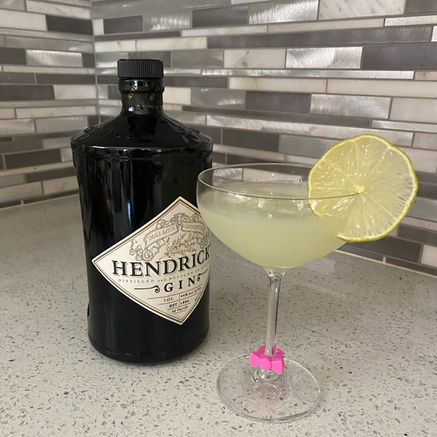 Cucumber Gimlet with Cucumber Mint Lime Simple Syrup
