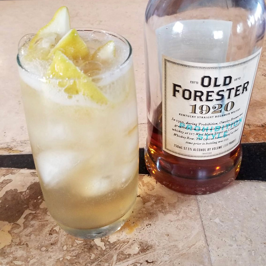 Old Forester Bourbon Whisky and Tonic