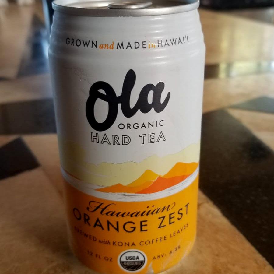 Ola Organic Hard Tea: Hawaiian Orange Zest